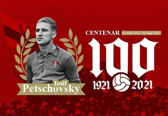 Legendarul Iosif Petschovsky – evocat la un secol de la naștere, peluza galeriei utiste îi va purta numele!