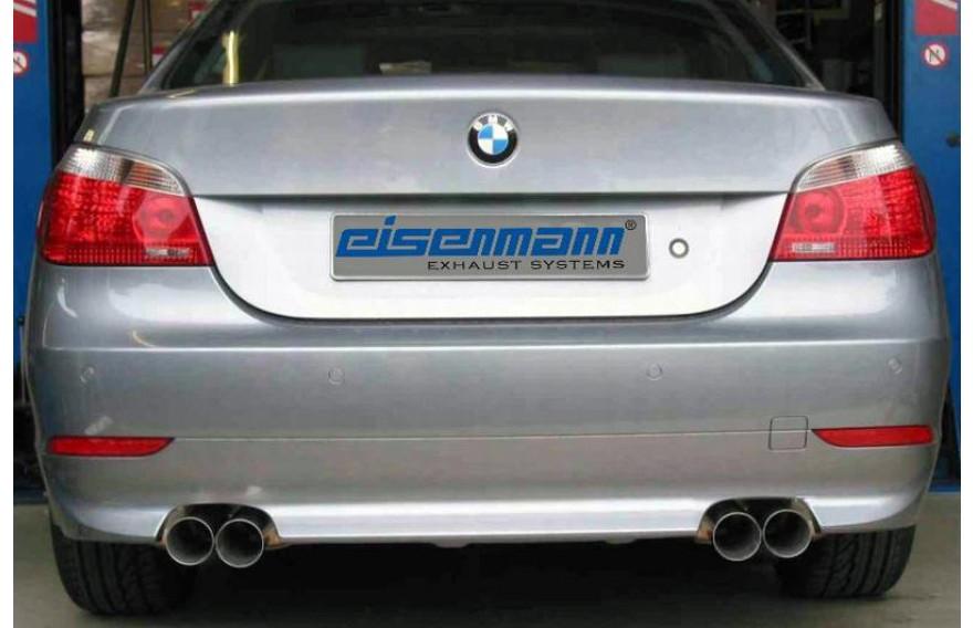 eisenmann duplex sportauspuff bmw 5er e60 550i limousine bj 2005 2010 endrohr 2x76mm rund je rechts links