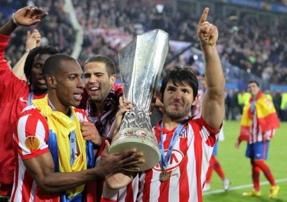 Aguero won the Europa League with Atletico Madrid.  Image: PA Images