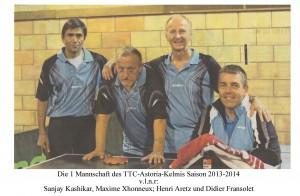 1 Mannschaft TTC Saison 2013-2014