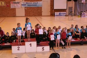 Platz 3, 4 & 6 für Julia Gerards, Anna Stollberg und Lea Steyns beim Challenge