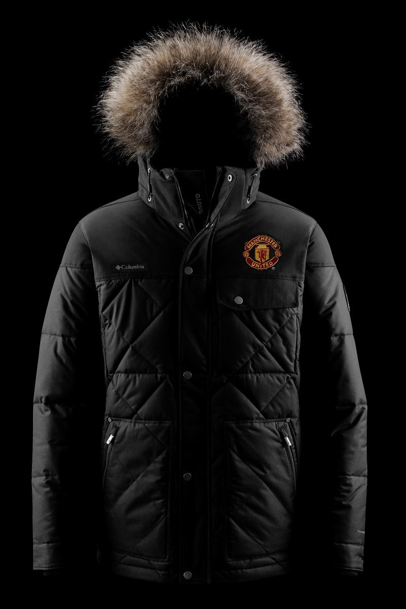 Columbia manchester united hooded puffer jacket