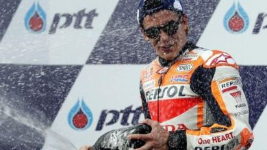 Marquez achieves victory in Thailand after Dovizioso duel