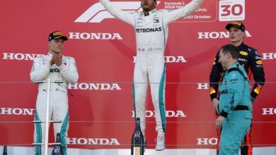 Hamilton on the verge of fifth F1 world title after winning in Japan