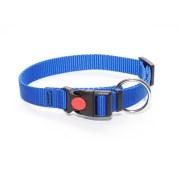 Ошейник из стропы 20 мм синий большое кольцо пластик с фиксатором