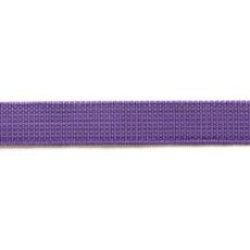 Ошейник из прорезиненной стропы 25 мм фиолетовый подшивка хром пряжка люверсы