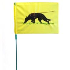 Флажок следовой с вышивкой немецкая овчарка желтый