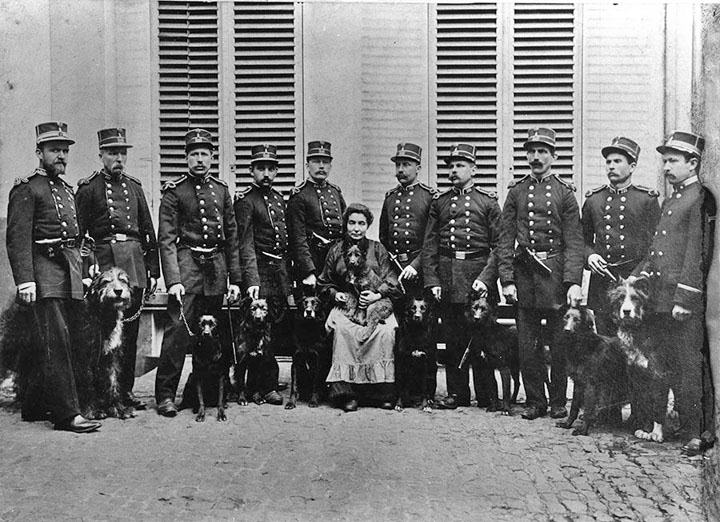 Original members of Gent police dog unit c. 1900