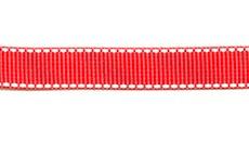 Ошейник текстильный с рефлексными полосками 25 мм, большое кольцо, пластиковый фастекс с фиксатором