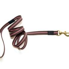 Поводок из прорезиненной стропы 20 мм розово-коричневый бронза