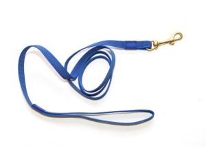 Поводок из прорезиненной стропы 15 мм синий бронза