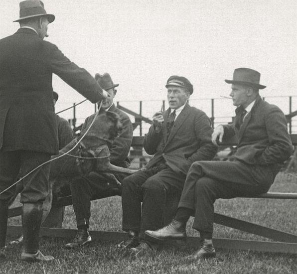 Training of police dog, Netherlands, 1923