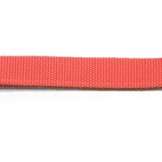 Ошейник 25 мм красный с фетром хром фастекс простой