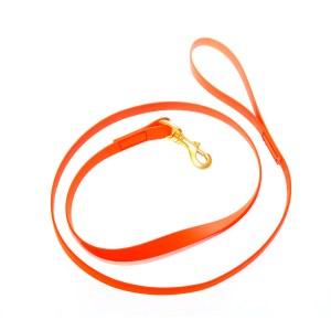Биотановый поводок оранжевый 19 мм с латунным карабином
