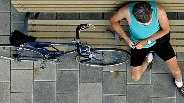 Ciclista stanco