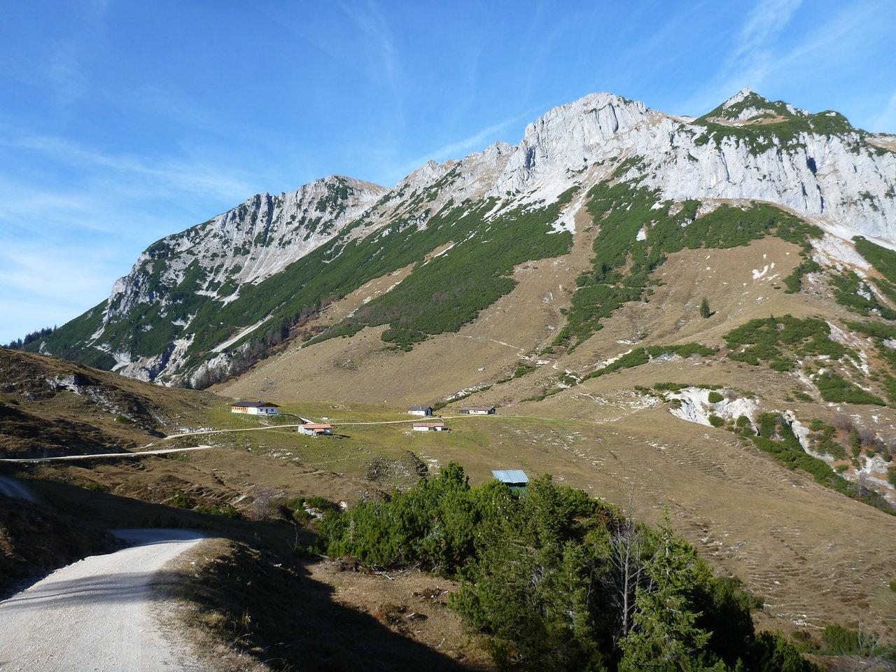 Tourentip-MTB: die Feldalm, eine eher einsame Ecke des Kaisergebirges