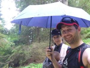 Rückweg mit Regenschutz...
