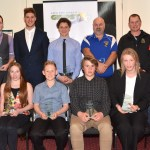 Mayor Michael Rossiter with award recipients from Latrobe City.