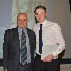 Tim Forsyth Nominee with Head Coach Richard Cooney