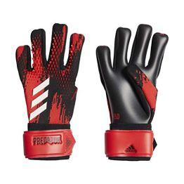 adidas PRED GL LGE Soccer Gloves, Black/Active red, 10 - 1