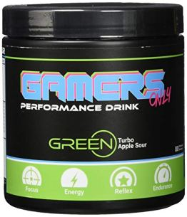 GAMERS ONLY GREEN Turbo Apple Sour, 400 g (80 Portionen) - 1