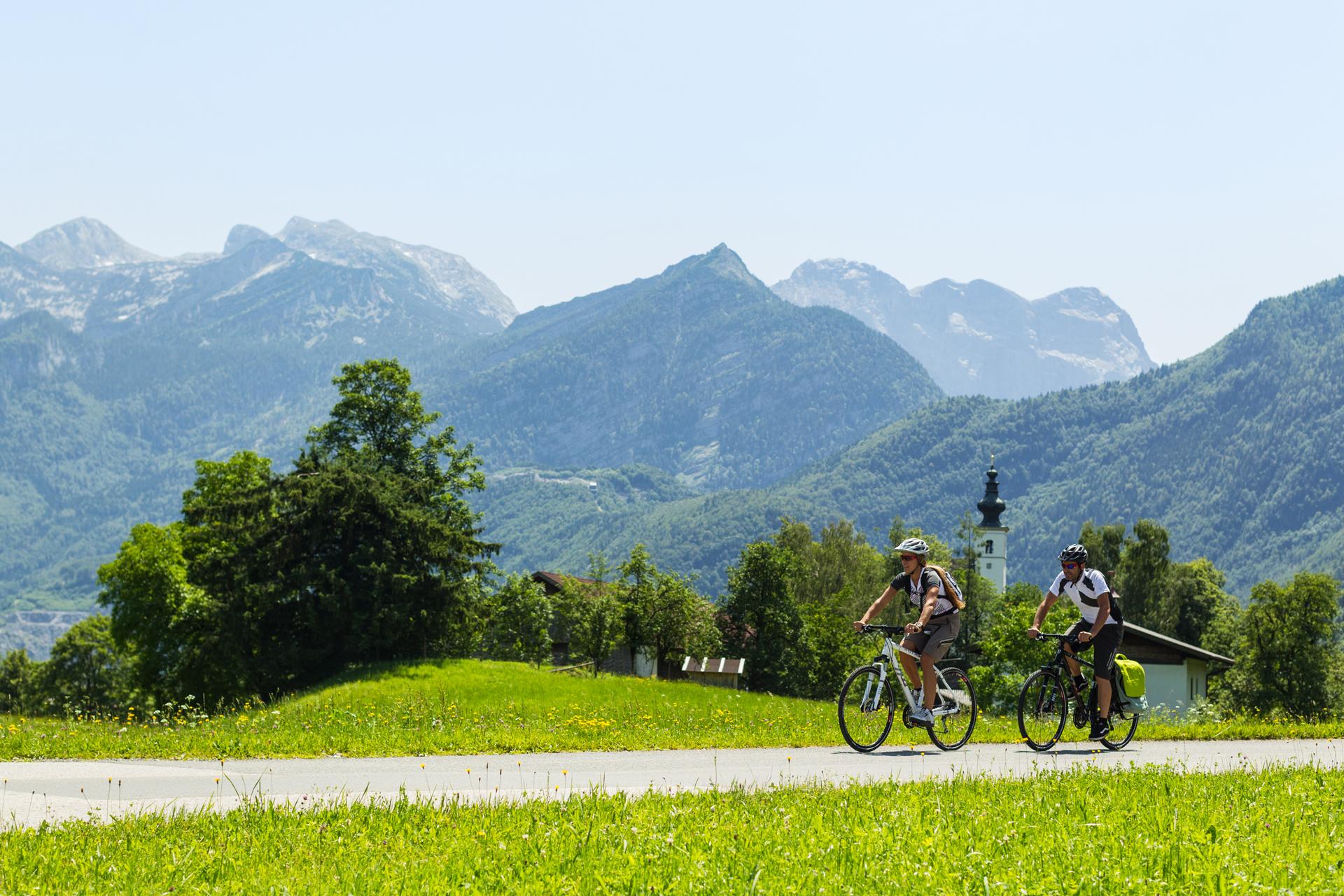 Tauernradweg Salzburgerland: Die herrliche Natur bildet die Kulisse der Tour.