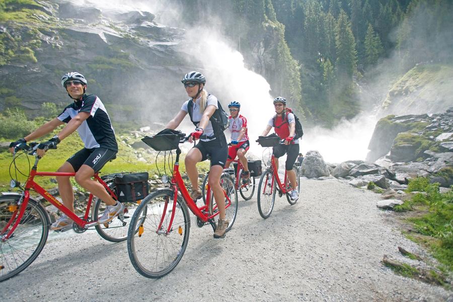 Tauernradweg Salzburgerland: Ausgangspunkt der Tour sind die Krimmler Wasserfälle.