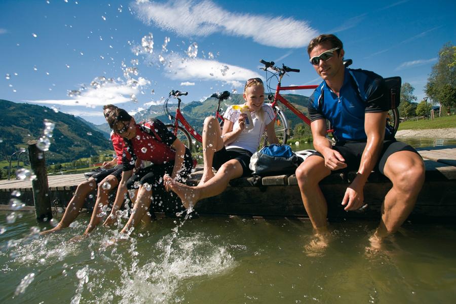 Tauernradweg Salzburgerland: Eine herrliche Abkühlung auf der Tour