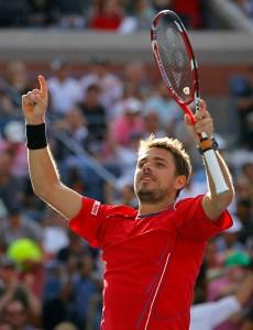 Stanislas Wawrinka feiert seinen Sieg über Andy Murray im Viertelfinale der US Open 2013