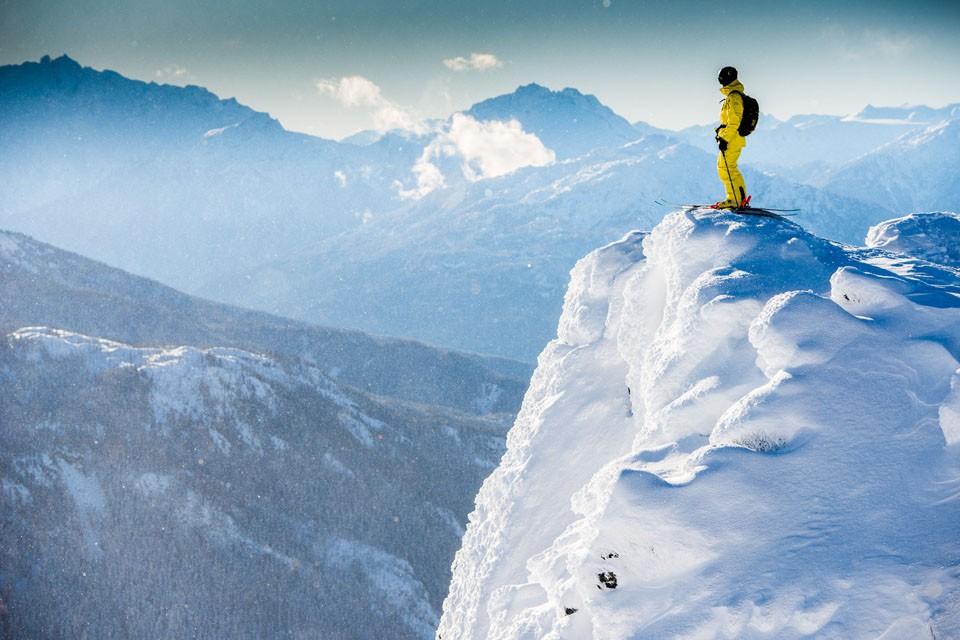 Matty Richard on top of blackcomb mountain whistler british columbia
