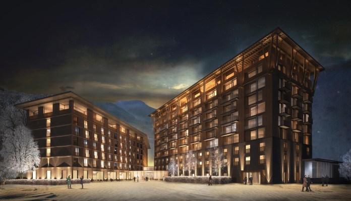 Andermatt Swiss Alps - 2. Hotel, Visualisierung Nacht