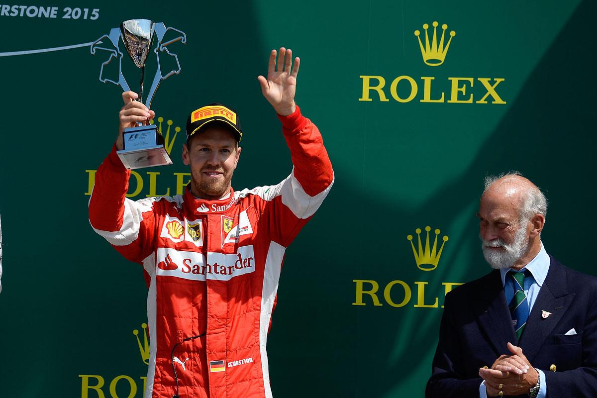 F1-GP-England2015-Vettel-Podest