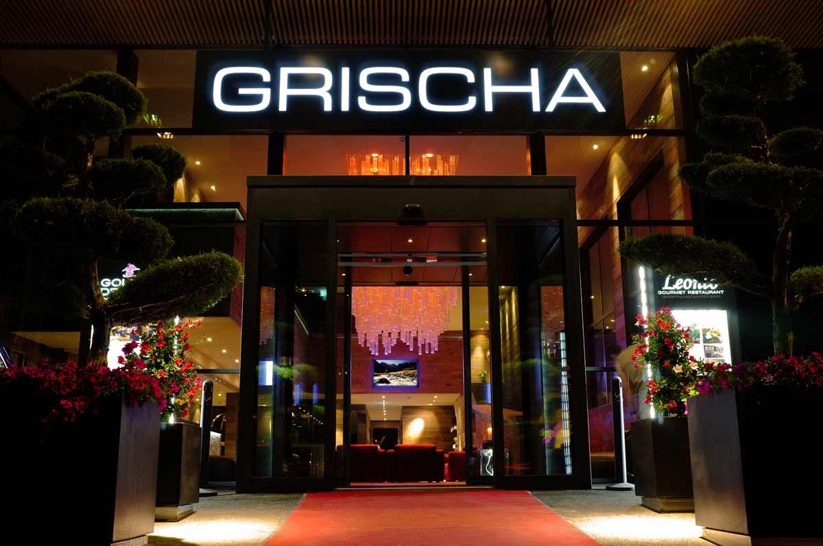 Hotel Grischa, Eingang