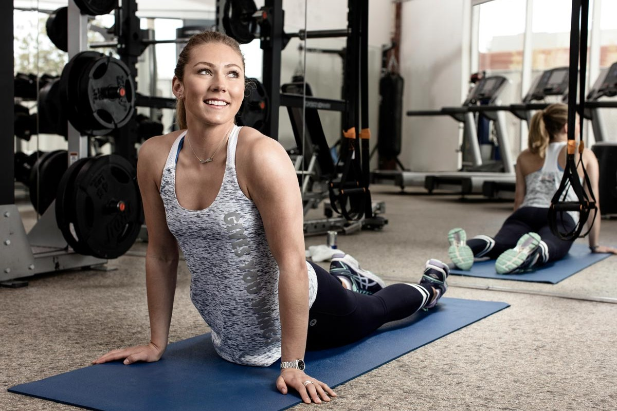 Mikaela Shiffrin beim Training