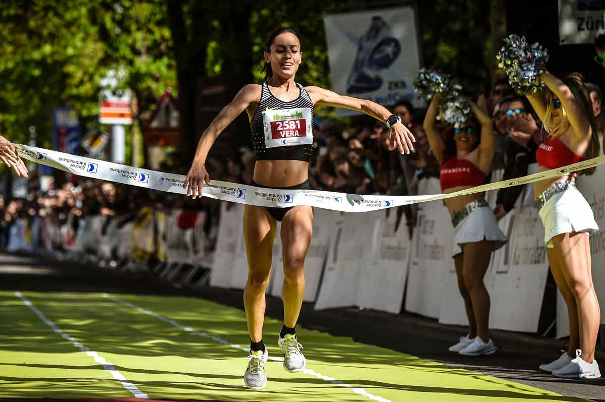 Siegerin Nunez, Zürich Marathon 2017