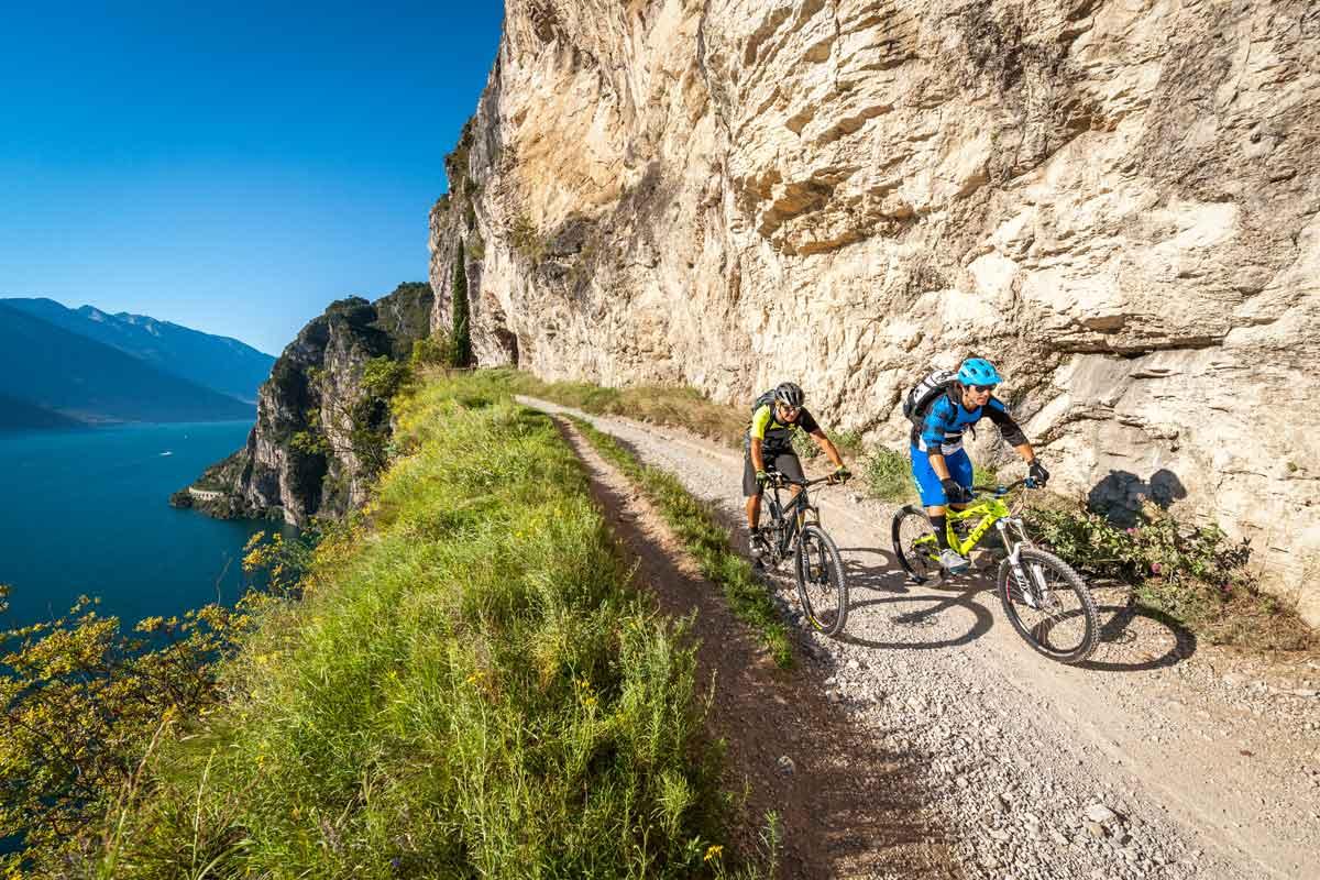 Biketour Trentino, über dem Gardasee