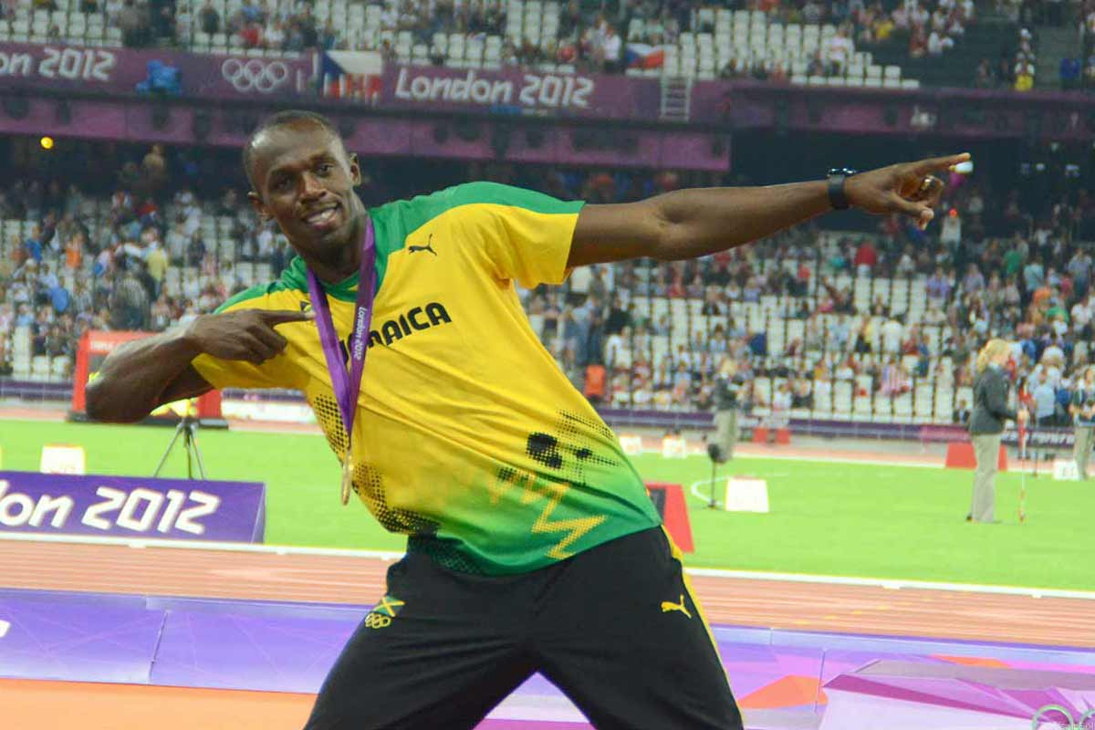 Usain Bolt, Olympiade London 200 m Siegerpose
