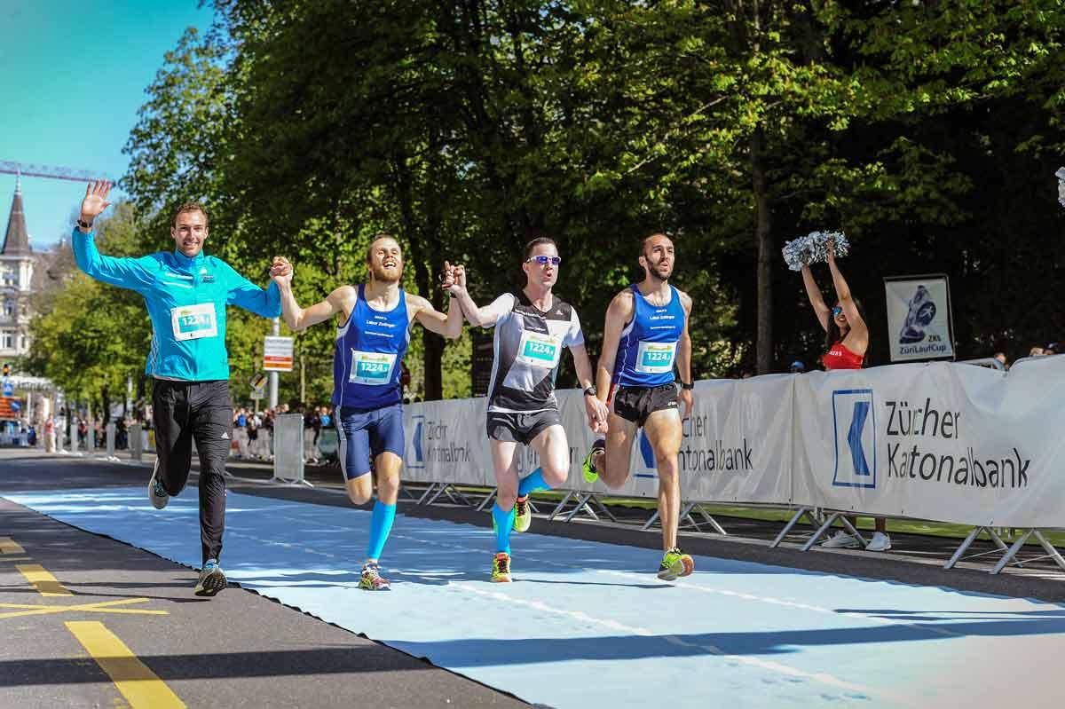 Zürich Marathon 2017, Teamrun