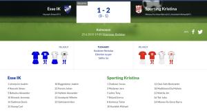 Läs mer om artikeln Esse IK – Sporting Kristina 1-2 (0-1)