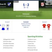 Esse IK - Sporting Kristina 1-2 (0-1)