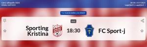 Read more about the article T12: Sporting Kristina-FC Sport-j, Lapväärtti 15.9.2021, klo. 18.30