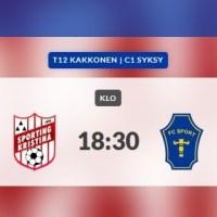 F12: Sporting Kristina-FC Sport-j, Lappfjärd 15.9.2021, kl. 18.30