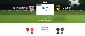 Läs mer om artikeln F12 Sporting Kristina – FC KOMU 3-2 (2-0)