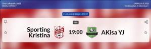 Läs mer om artikeln Sporting P12 spelar imorgon 10.8 på Kristinaplan kl. 19.00 Sporting – AKisa YJ
