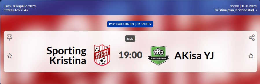 You are currently viewing Sporting P12 spelar imorgon 10.8 på Kristinaplan kl. 19.00 Sporting – AKisa YJ