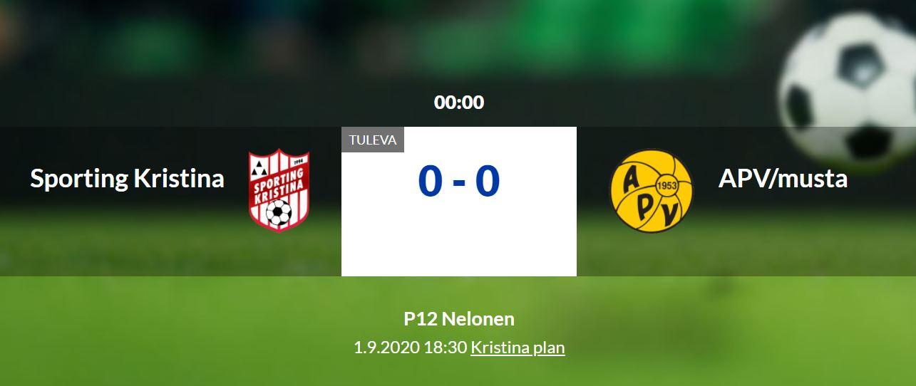 Läs mer om artikeln Sporting P12 hemmamatch mot Apv på Kristinaplan ikväll kl 18.30