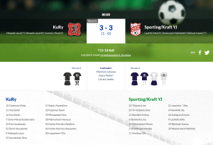 Read more about the article T15 KuRy – Sporting/Kraft YJ 3-3 (1-0)