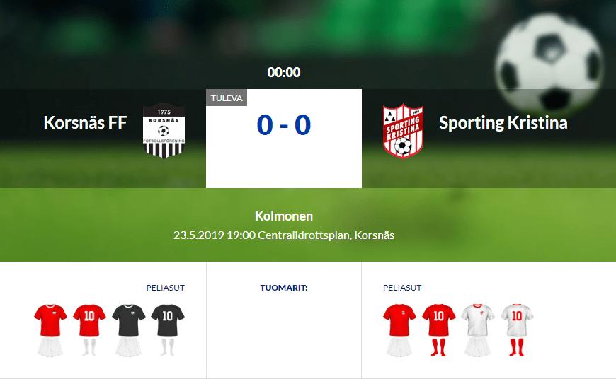 You are currently viewing Korsnäs FF ja Sporting Kristina kohtaavat paikallisottelussa tänä iltana