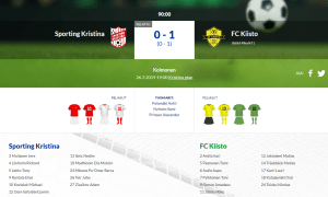 Read more about the article Sporting Kristina – FC Kiisto 0-1 (0-1)
