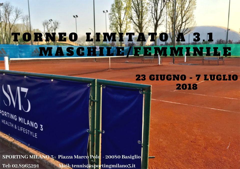 Torneo Limitato a 3.1 Maschile/Femminile, 23 Giugno - 7 Luglio 2018